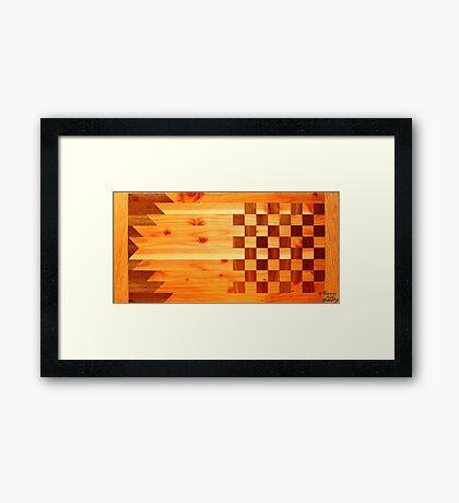 Indian Turkey Chess Table Landscape Framed Print