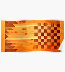 Indian Turkey Chess Table Landscape Poster