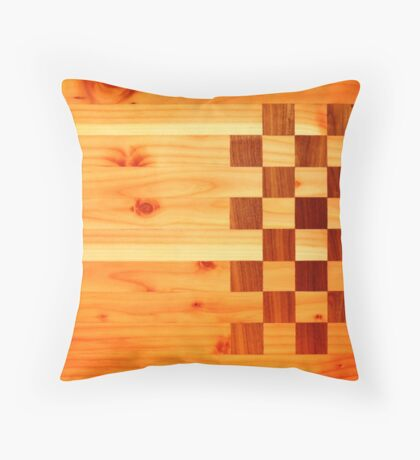 Indian Turkey Chess Table Landscape Throw Pillow