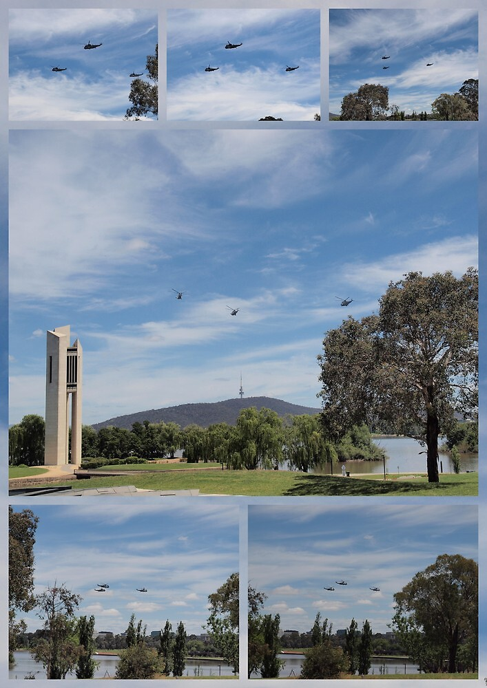 Last flight of the 3 kings over Canberra  by Tom McDonnell