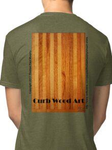 Official Curb Wood Art T shirt Tri-blend T-Shirt