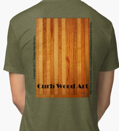 Official Curb Wood Art T shirt Tri-blend T-Shirt