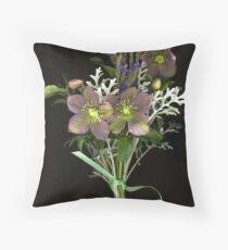 December Garden Nosegay Throw Pillow