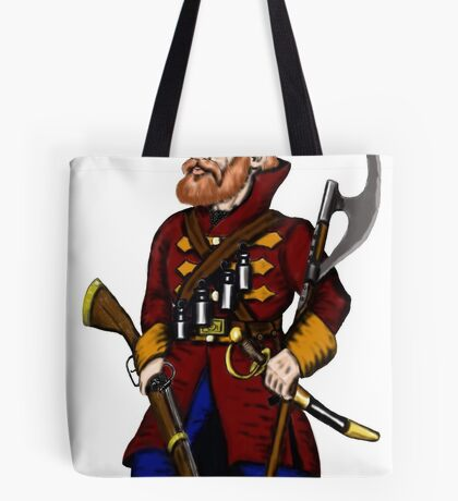 Russian Strelets (musketeer) cartoon drawing art Tote Bag