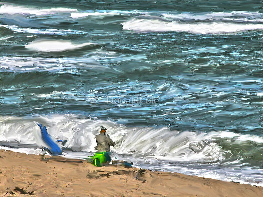 Fishing The Waves by DonaldCole
