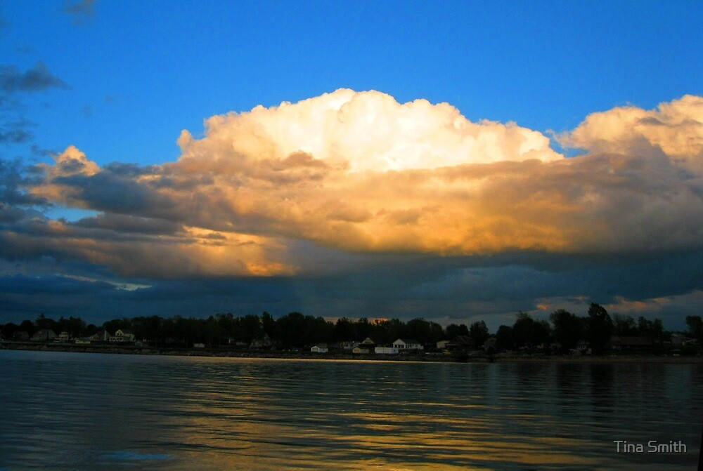 Clouds at Goose Bay by tina smith