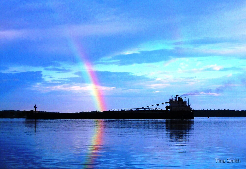 Rainbow Ship by tina smith