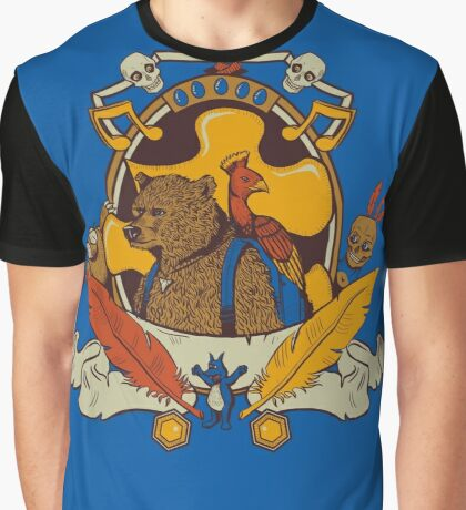 Bear & Bird Crest Graphic T-Shirt