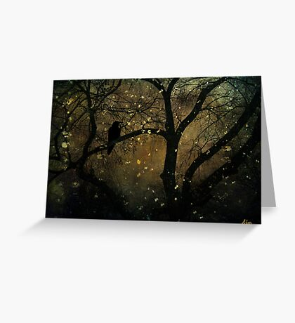 Night for Ravens Greeting Card