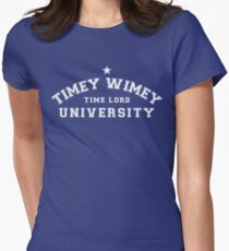 Property of The Timey Wimey University for Time Lords Women's Fitted T-Shirt