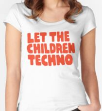Let The Children Techno Women's Fitted Scoop T-Shirt