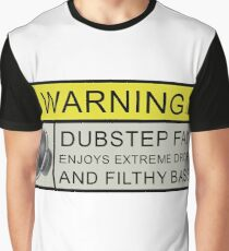 Dubstep Warning Graphic T-Shirt