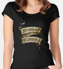 Mischief Managed Banner Women's Fitted Scoop T-Shirt