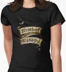 Mischief Managed Banner Women's Fitted T-Shirt