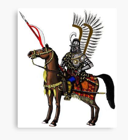 Polish Winged Hussar cartoon art drawing Canvas Print