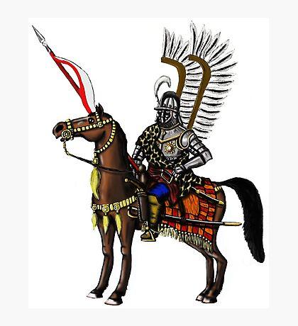 Polish Winged Hussar cartoon art drawing Photographic Print
