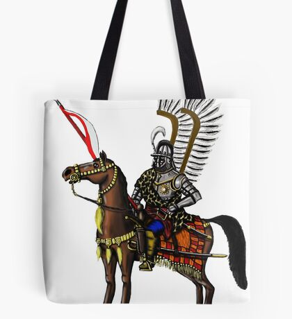 Polish Winged Hussar cartoon art drawing Tote Bag