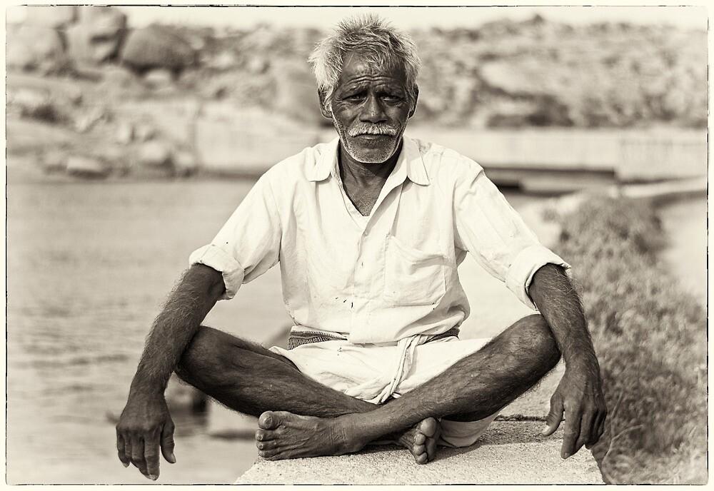 An old boatman by Neha Singh