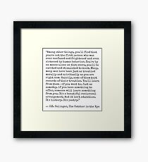 Catcher in the Rye Quote Framed Print