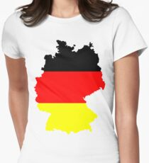 Germany Flag and Map Women's Fitted T-Shirt
