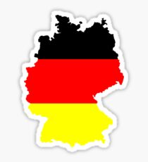 Germany Flag and Map Sticker