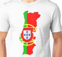 Portugal Flag and Map Unisex T-Shirt