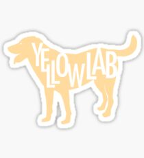 Yellow Lab Sticker