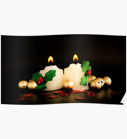 Christmas Candles Poster