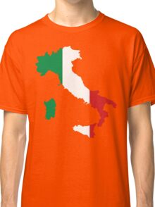 Italy Flag and Map Classic T-Shirt