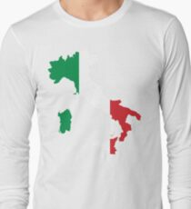 Italy Flag and Map T-Shirt