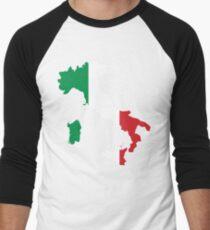 Italy Flag and Map Men's Baseball ¾ T-Shirt
