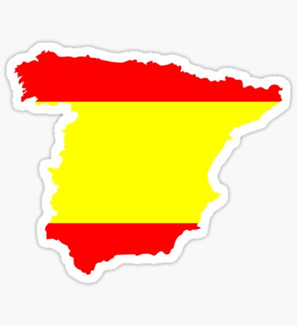 Spain Flag and Map Sticker