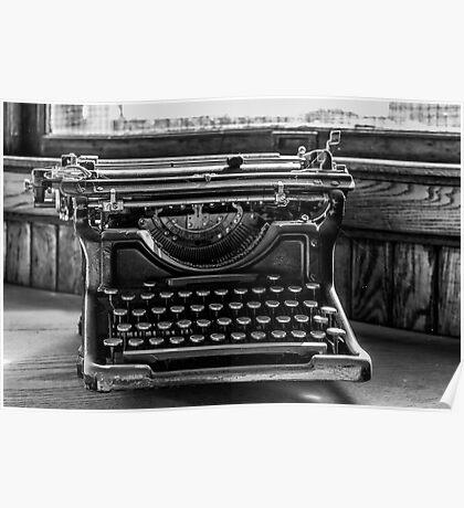 Old Typewriter Poster