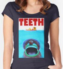 Teeth Parody Women's Fitted Scoop T-Shirt
