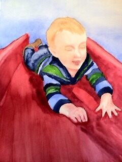 Sliding Sam by ClaraM