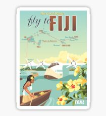 Coral Route - Fiji and Solent flying boat Sticker