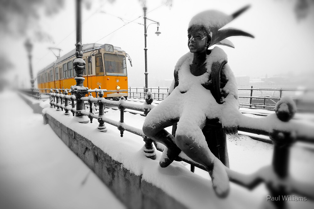Yellow Tram - Budapest by Paul Williams
