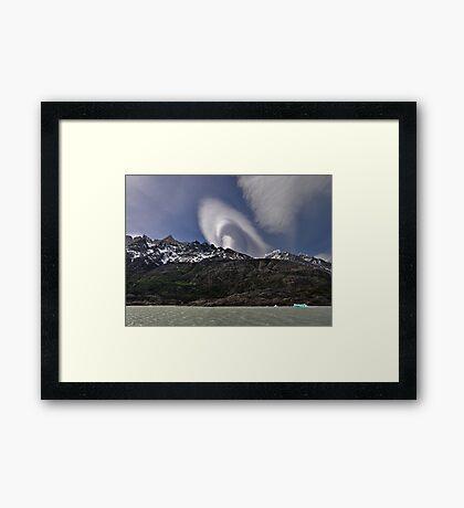 Cloud over Laguna Grey Framed Print
