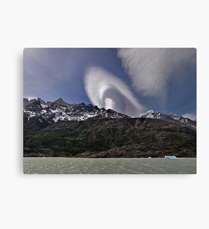 Cloud over Laguna Grey Canvas Print