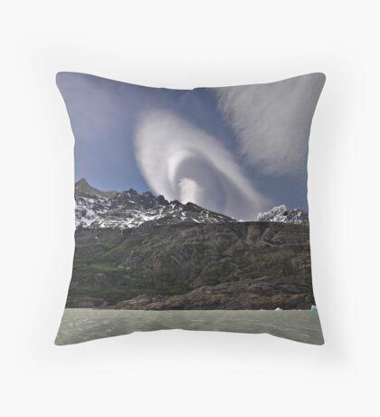 Cloud over Laguna Grey Throw Pillow