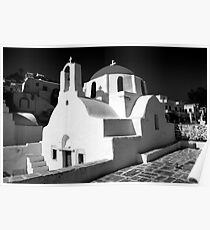 Greek Orthodox Churches of the Greek Cyclades Islands Poster