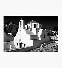Greek Orthodox Churches of the Greek Cyclades Islands Photographic Print