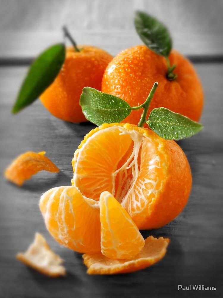 Selective Colour Food Photos of Mandarins by Paul Williams