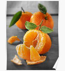 Selective Colour Food Photos of Mandarins Poster