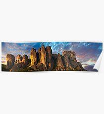 Meteora Mountain Monateries, Greece Poster