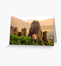 Meteora Mountain Monateries, Greece 2 Greeting Card