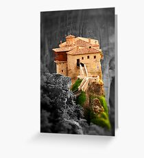 Meteora Mountain Monateries, Greece 3 Greeting Card