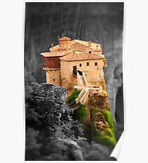 Meteora Mountain Monateries, Greece 3 Poster