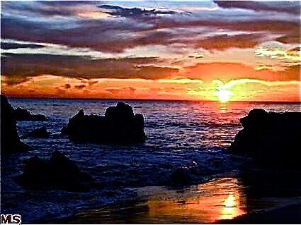 Malibu Sunset by Julie Marks
