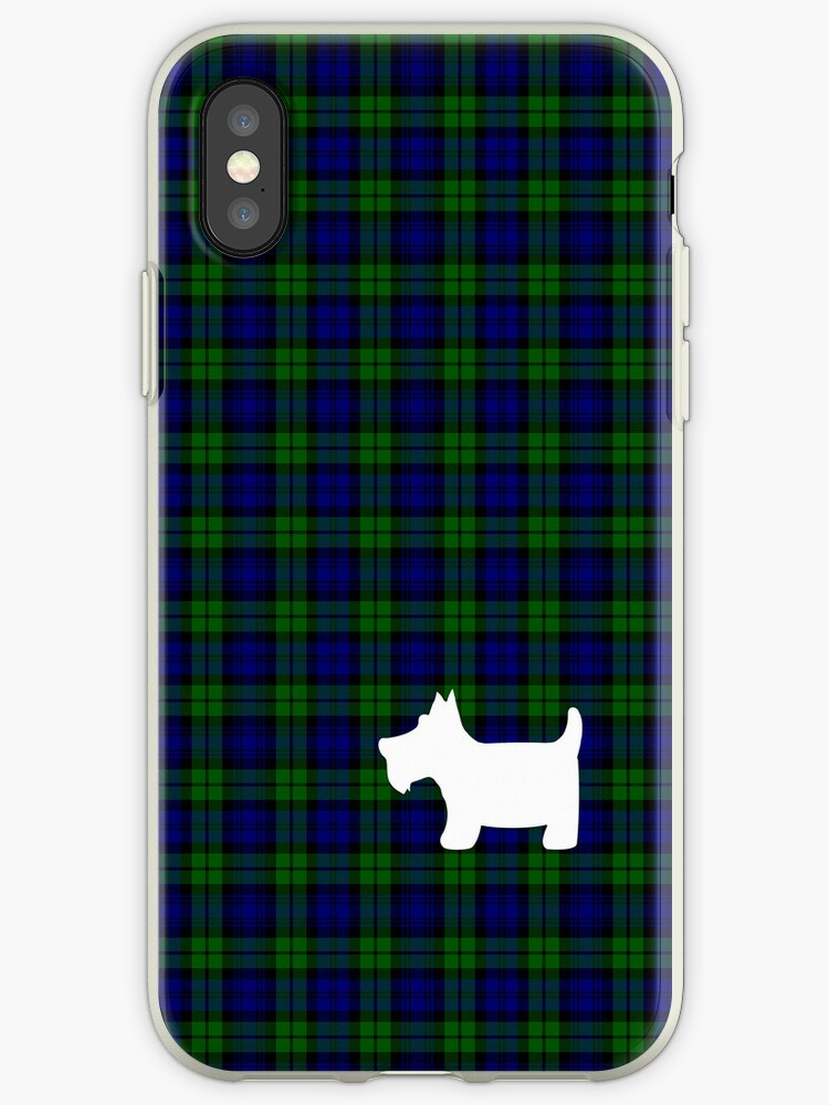 Black Watch Tartan Plaid and Scottie Dog by ArtformDesigns